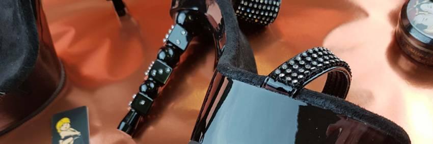 Pleaser Dice 616 Noir Strass Embelli Casino Themed Heels