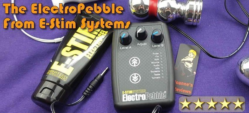 ElectroPebble Estim Dual Channel Control Unit van e-stim.co.uk