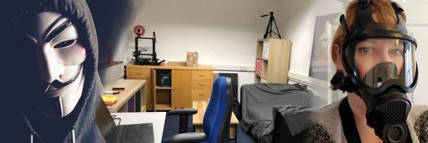 ハッカー、私の新しいオフィス& コロナウイルスの災い