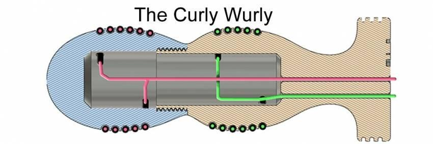 DIY Bi-Polar Insertable Electrode - Curly Wurly