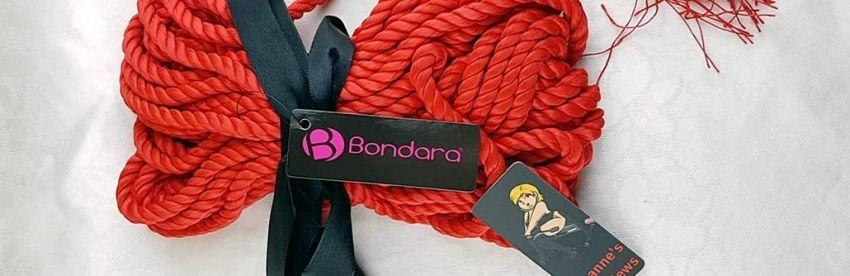 Bondara κόκκινο σχοινί BDSM Δόνηση με κριτική φούντες