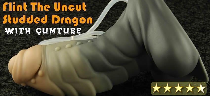 Bad Dragons Flint the Dragon Uncut Studded