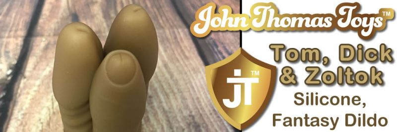 John Thomas Toys Tom Dick And Zoltok Silicone Dildo