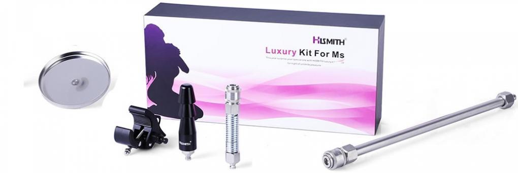 Hismithプレミアムセックスマシン機能拡張セット、女性用、KlicLokシステム