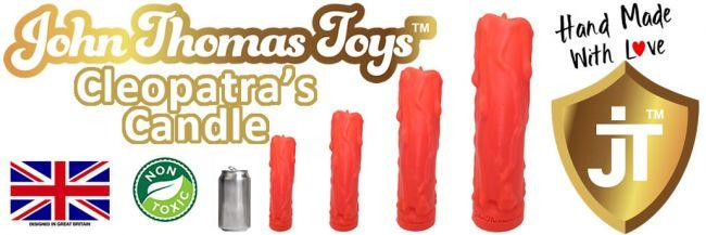 John Thomas® Cleopatra Candle Platinum Silicone Dildo Review