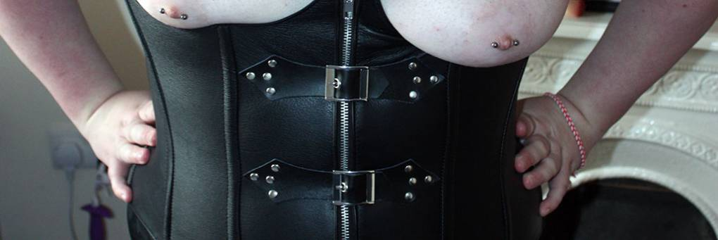 Allure Leather Cupless Buckle And Zip Corset