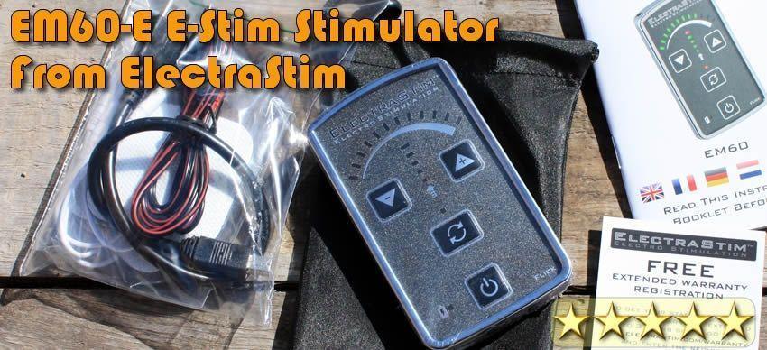 Kaptam egy EM60-E szimulációs készletet, hogy átnézzem a szép srácokat az electrastim.com-on