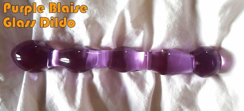 Purple Blaise Glass Dildo de theglassdildoshop.com