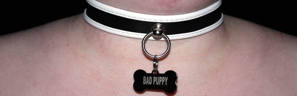 BDSM Chiot Slave Collar examen