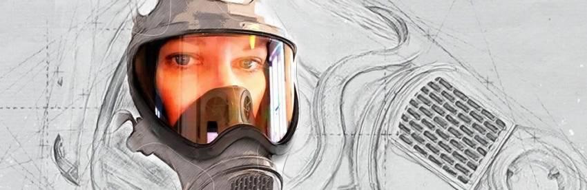 BDSM plynová maska - kontrola dýchání od firmy Meo.de