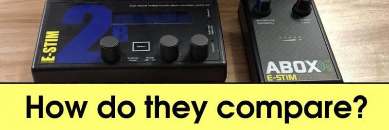 Audiostimulatie-vergelijking tussen de ABox Mk 2 en 2B