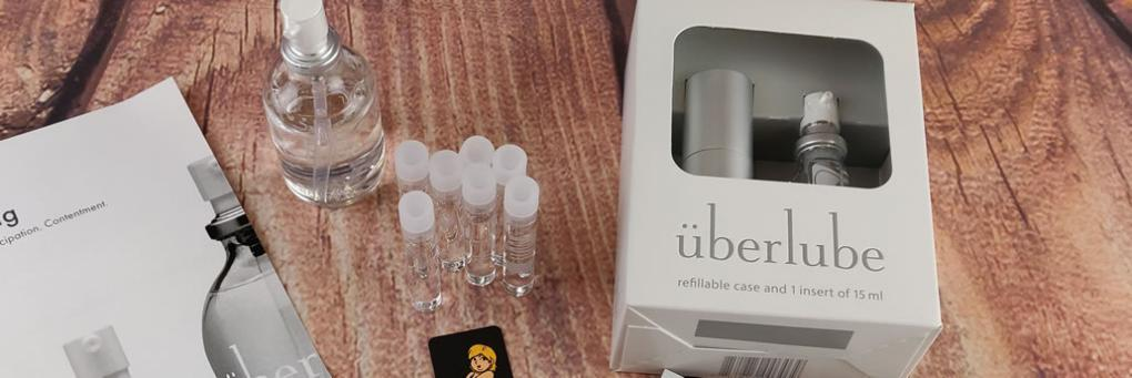 Uberlube Good To Go Travel -kokoinen silikonivoiteluaine 15ml hopeakatsaus