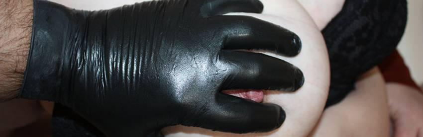 Rękawiczki Latex Ass Play / Fisting od MEO