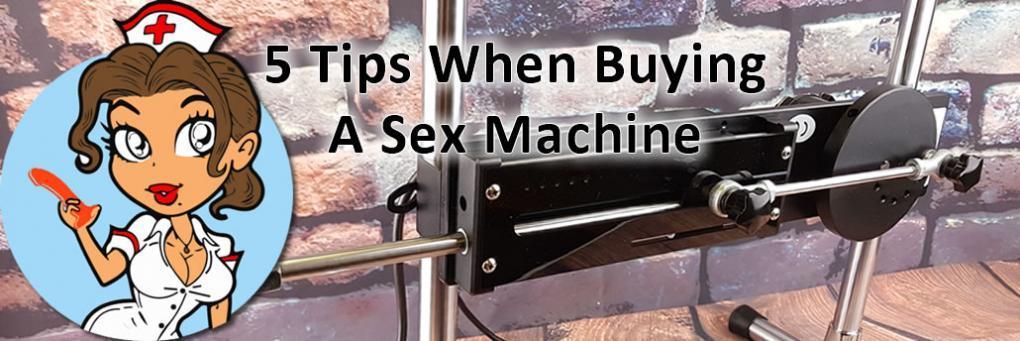 5 conseils lors de l'achat d'une machine sexuelle