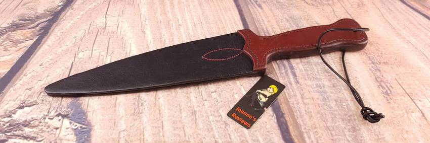 Bondara 14 Inch Lair kožený meč Slapper pádlo