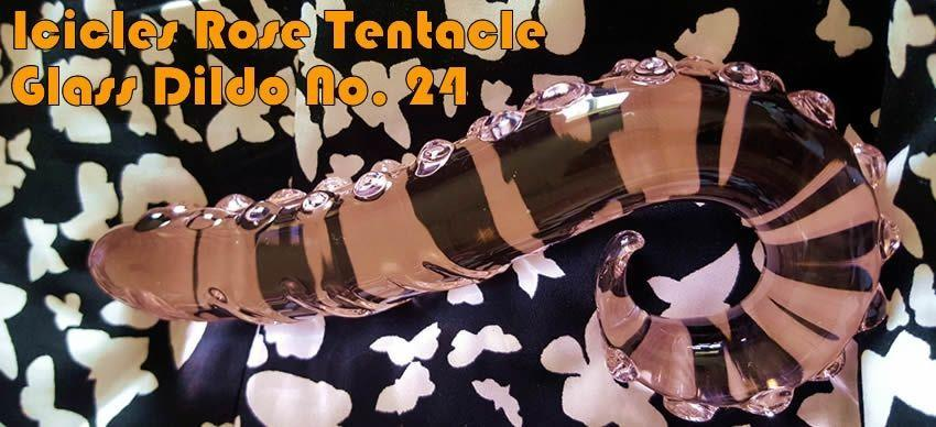 Icicles Rose Tentacle Glass Dildo No 24 from SexShop365.co.uk